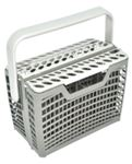 Picture of Basket Cutlery ASSY GREY. 23.2cm(l) x 24cm (h) x 8.5 or 13cm (w)
