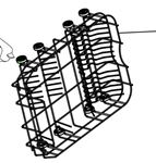 Picture of Lower Basket Including Wheels. Wheels not available seperately.