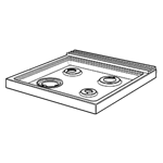 Picture of HOB 600FC ASSY GAS S/S FF DUAL