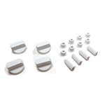 Picture of WHITE OVEN KNOB WITH REDUCTIONS KIT 4pcs - UNIVERS